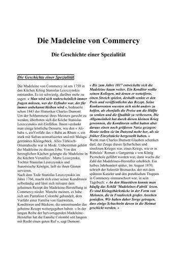 Madeleine en allemand