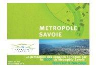 La protection des espaces agricoles par le SCOT de Métropole Savoie