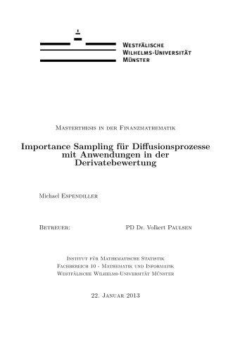 Importance Sampling für Diffusionsprozesse mit Anwendungen in ...