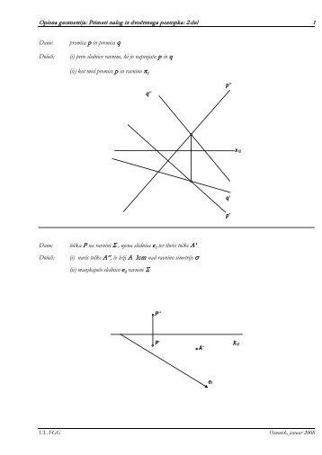 Naloge iz uporabne geometrije - Student Info