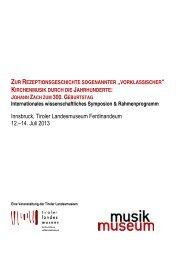 PDF Programm - Tiroler Landesmuseen