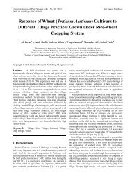 Response of Wheat (Triticum Aestivum) Cultivars to Different Tillage ...