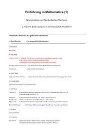 Einführung in Mathematica (1)