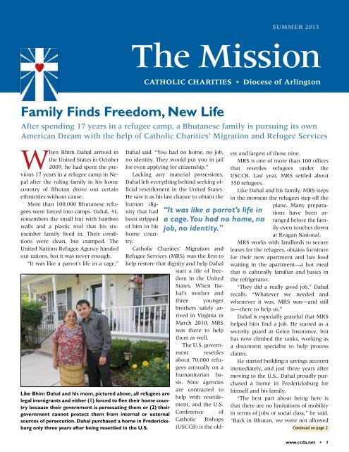 The Mission - Catholic Charities of the Diocese of Arlington