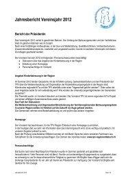 Jahresbericht der Präsidentin 2012 - Tagesplatzvermittlung Region ...