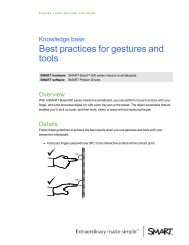 Best practices for gestures and tools - SMART Technologies Inc.