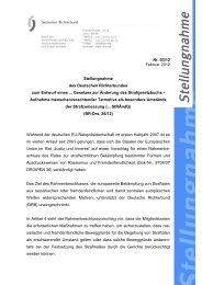 DRB-Stellungnahme Nr. 3 - Deutscher Richterbund