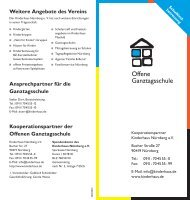 Offene Ganztagsschule - Kinderhaus Nürnberg gGmbH