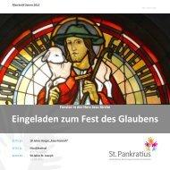 Eingeladen zum Fest des Glaubens - St. Pankratius Emsdetten