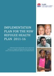 South EAstern sydney LOCAL HEALTH DISTRICT REFUGEE ...