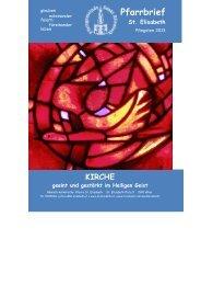 Pfarrbrief Pfingsten 2013 ist online - Pfarrgemeinde Sankt Elisabeth