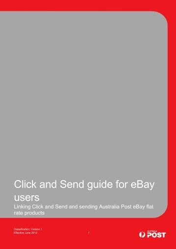 Click and Send guide for eBay users - Australia Post - eBay