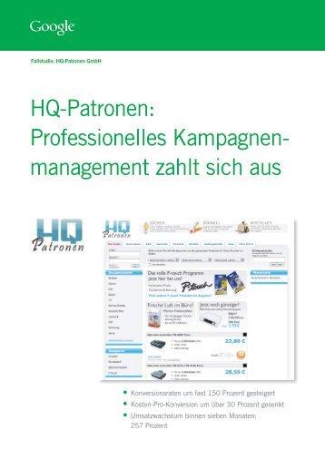 HQ-Patronen: Professionelles Kampagnen ... - web-netz GmbH
