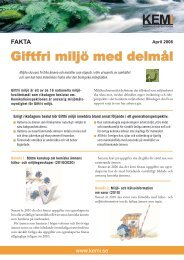 Giftfri miljö med delmål, faktablad - Kemikalieinspektionen