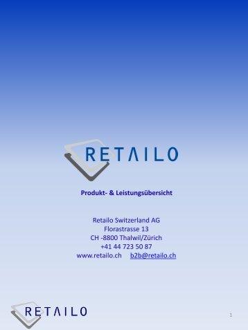 Produktekatalog - Retailo Schweiz