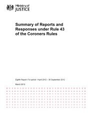Summary of Reports and Responses under Rule 43 of the ... - Gov.uk