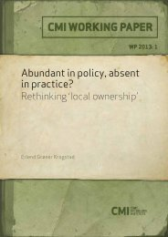 Abundant in policy, absent in practice? - CMI