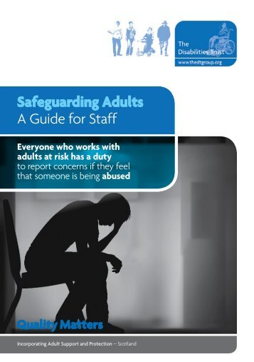 DTQA Safeguarding Adults - The Disabilities Trust