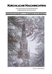 KIRCHLICHE NACHRICHTEN - des Kirchspiels Merseburg