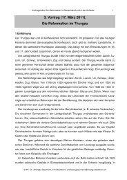 3. Vortrag (17. März 2011) - Evangelischen Kirchgemeinde Steckborn