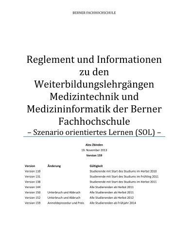 Studienreglement und allgemeine Geschäftsbedingungen - Berner ...