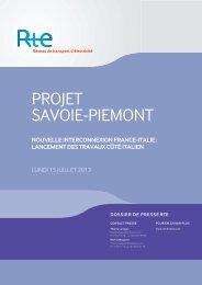PROJET SAVOIE-PIEMONT - RTE