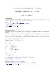 Lösungen zu Übungsblatt 4 1. Kirchturmuhr 2. Rotation der Erde