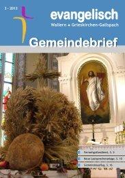 Gemeindebrief 3 - Wallern
