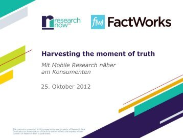 Harvesting the moment of truth Mit Mobile Research ... - FactWorks