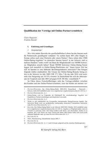 Online partnervermittlung 656 bgb
