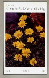 Bulletin - Winter 1987 - North American Rock Garden Society