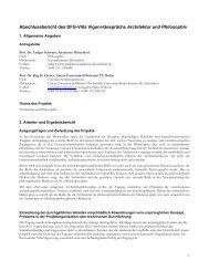 Abschlussbericht des DFG-Villa Vigoni-Gesprächs Architektur und ...