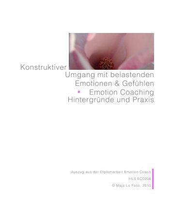 Konstruktiver Umgang mit belastenden Emotionen & Gefühlen ...