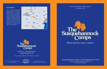 Download Brochure - Camp Susquehannock