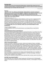 Kolloidales Silber - GesundDurchsLeben.org