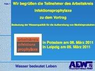 Bedeutung der Wasserqualität für die Reinigung v ... - akipev.de