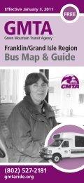 Bus Map & Guide - GMTA Green Mountain Transit Agency
