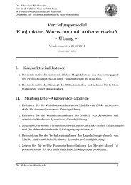 Übungsaufgaben - Wirtschaftswissenschaftliche Fakultät - Friedrich ...