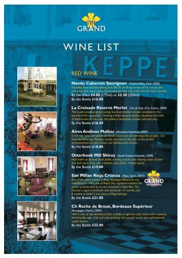 Keppels Wine list 2011.cdr - The Grand