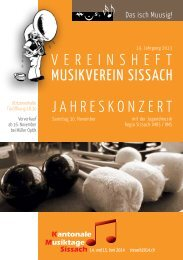 Vereinsheft Nr. 19 - Musikverein Sissach