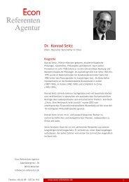 Dr. Konrad Seitz - Econ Referenten-Agentur