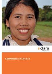 pdf Geschäftsbericht 12/13 - claro fair trade AG