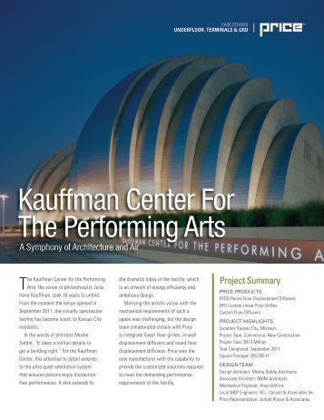 Kauffman Center For The Performing Arts - Price HVAC