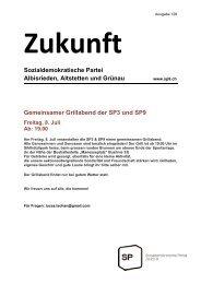 Sozialdemokratische Partei Albisrieden, Altstetten und ... - SP Zürich 9