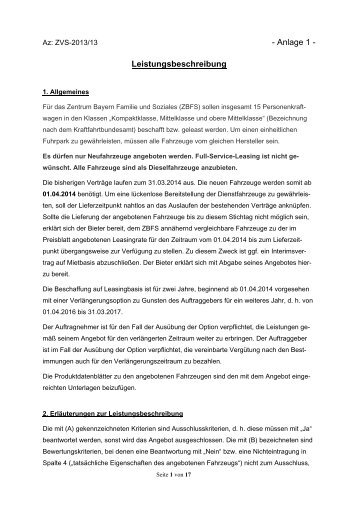 Anlage 1 - Zentrum Bayern Familie und Soziales