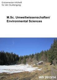 Infoheft - Fakultät für Umwelt und Natürliche Ressourcen