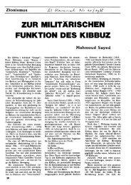 Zur militärischen Funktion des Kibbuz - Social History Portal