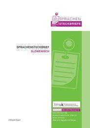 SPRACHENSTECKBRIEF SLOWENISCH - Schule mehrsprachig