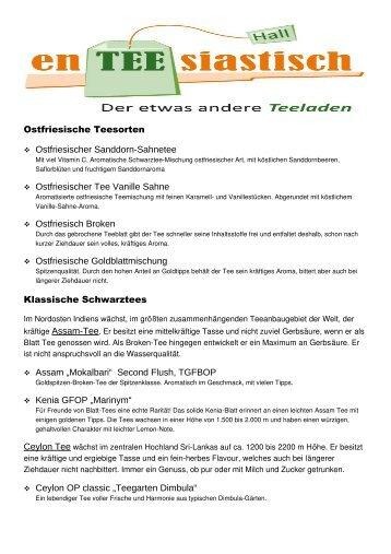 Ostfriesische Teesorten  Ostfriesischer ... - en-TEE-siastisch
