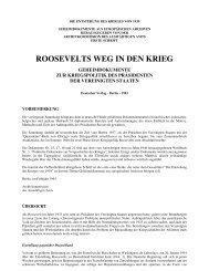 Roosevelts Weg in den Krieg - Morbus ignorantia - Die Krankheit ...